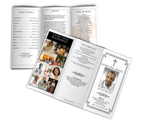 Free Memorial Card Template With Messianic Symbols Poems by Homegoing Service Program Sle Exle Of Programs For