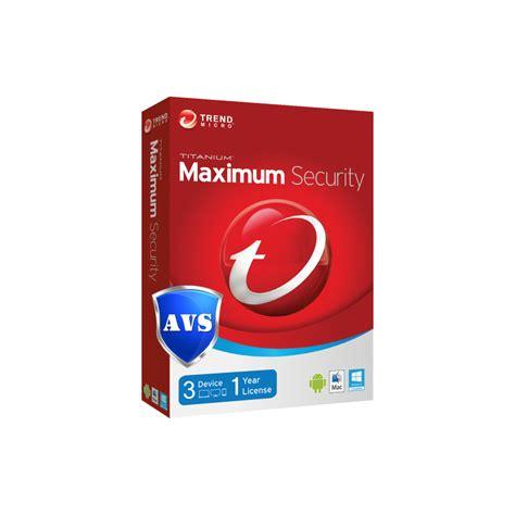 Antivirus Trend Micro Maximum Security 11 1 Devices 3 Year trend micro titanium maximum security 2017 removal tool