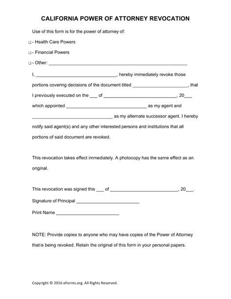 20 Poa California Form Templates Print Paper Templates Power Of Attorney Template California