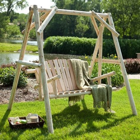 home swings outdoor log swing home design garden architecture