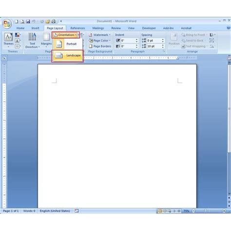 Definition Landscape Microsoft Word How To Make A Phlet Using Microsoft Word 2007 Learn