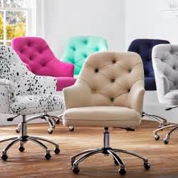 Tufted Desk Chair Cheap Twill Tufted Desk Chair Pbteen