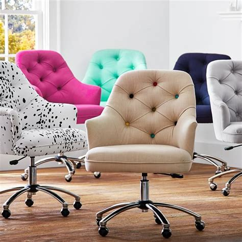 tufted upholstered desk chair tufted desk chair pbteen