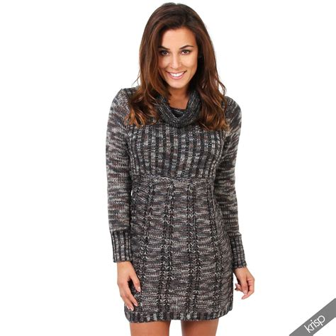 Sous Pull Col Cheminãģ E Femme Robe Pull Tunique Tricot Grosse Maille Col Roul 233