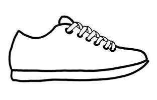 shoe drawing template it s about time teachers sneak into a new school year