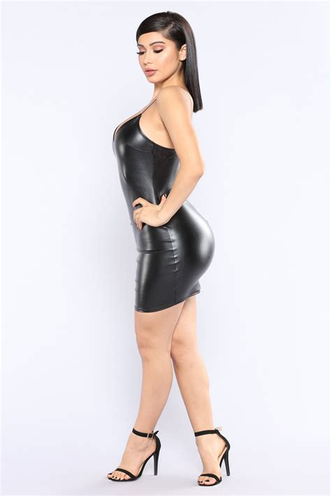Fashion Reservations by No Reservations Leather Dress Black