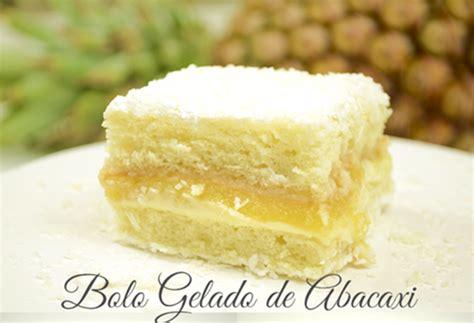 Galerry receita de bolo gelado de coco com abacaxi