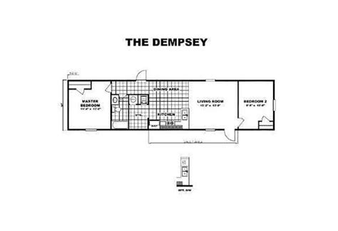 Trumh Dempsey Bliss 2 Bedroom 1 Bath Mobile Home For Tru Manufactured Homes Floor Plans