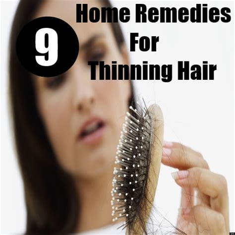 thinning hair home remedies natural treatments  cures