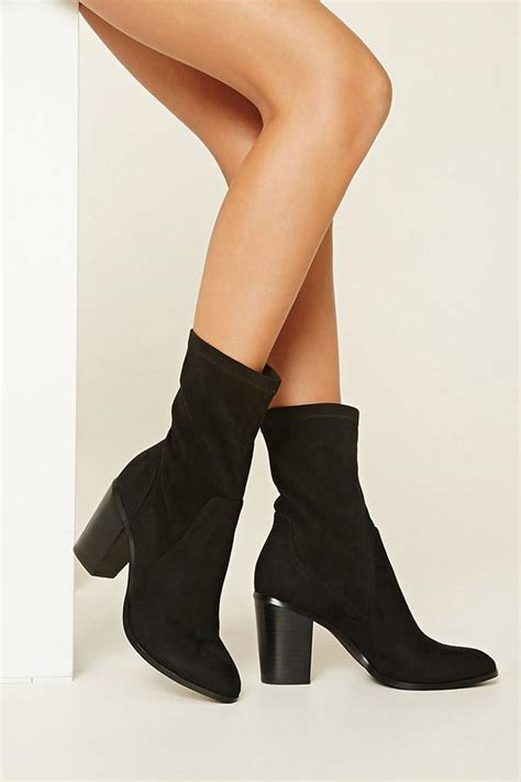 faux suede ankle booties  black lyst