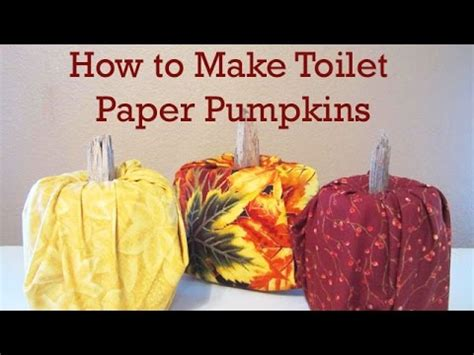 How To Make A Pumpkin Out Of Paper - how to make a toilet paper roll pumpkin no sewing