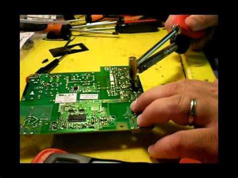 failing capacitors in power supply repair failure hanns g monitor power supply capacitor replacement