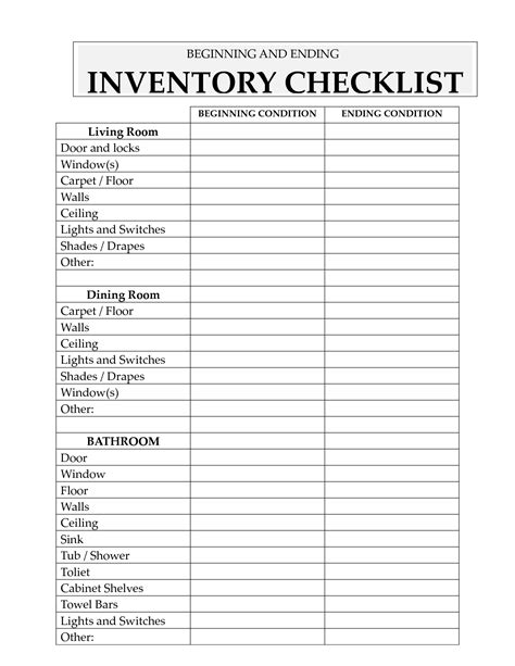 crash card template best photos of sle inventory list inventory list