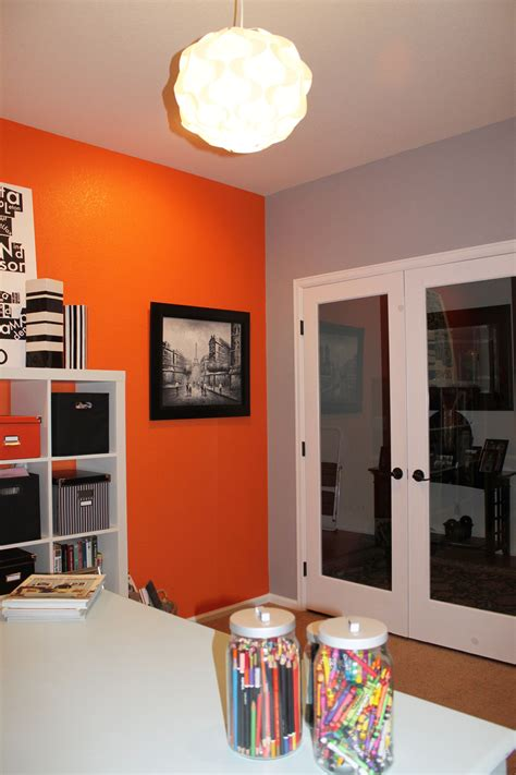 we leftover orange paint maybe for an accent wall