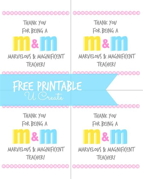printable thank you quotes m m teacher printable u createcrafts com teacher