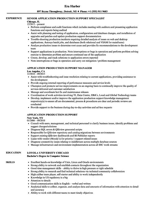 fantastic sle resume application support pictures
