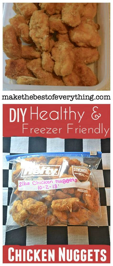 Freezer Nugget chicken nuggets recipe to freeze