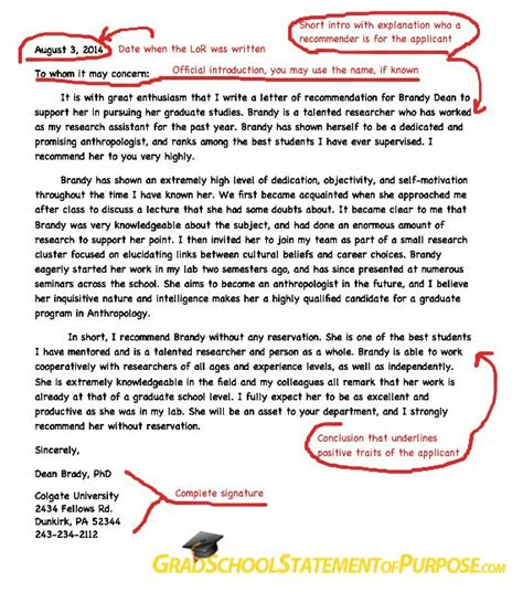 graduate school application follow up letter graduate school letter of recommendation format grad