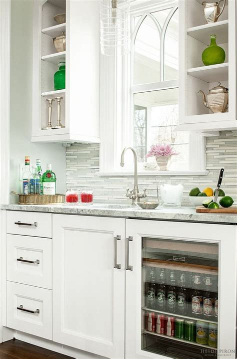 classic transitional white gorgeous butlers pantry