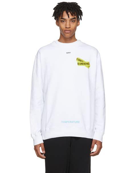 White Firetape white white firetape sweatshirt 183 vergle