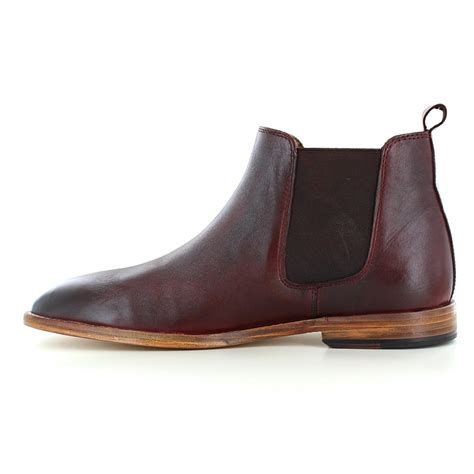 paolo vandini portway mens leather chelsea boots burgundy