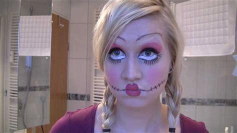 tutorial makeup doll look halloween look creepy doll makeup tutorial youtube