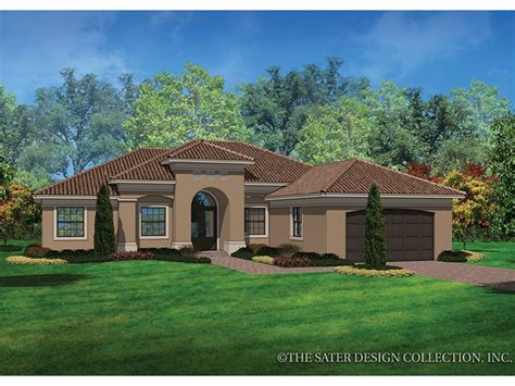 style house plans eplans mediterranean modern house plan casual mediterranean style 2042 square and 3