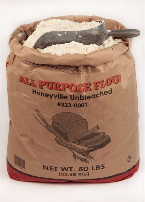 Shelf Of All Purpose Flour by Honeyville All Purpose Unbleached Flour 50 Pound Bag