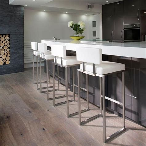 Bar Stools Breakfast Counter by Set Of 4 Luxury White Kitchen Breakfast Bar Stool Seat