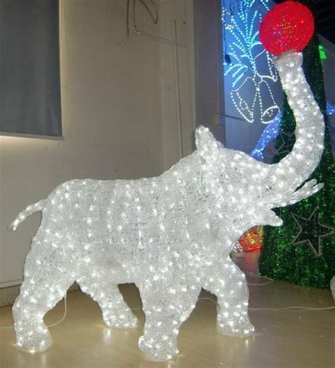 led christmas figures 3d acrylic animals led deer motif