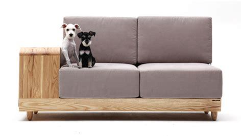 modern dog sofa modern cushioned sofa with dog house attached freshome com