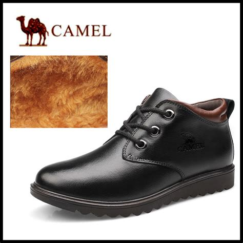 comfortable winter shoes 2015 warm camel genuine leather waterproof men boots
