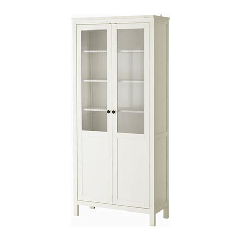 White Glass Cabinet Doors Hemnes Cabinet With Panel Glass Door White Stain Ikea