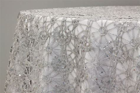 silver lace table overlay your shimmer with a silver tablecloth