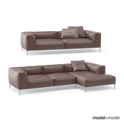 sofa italia b b italia frank sofas 3d model max obj fbx cgtrader com