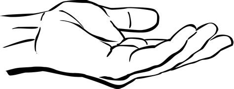 handshake coloring page hand clip art clipart best