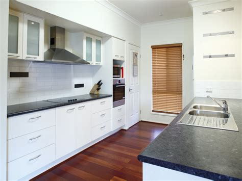 Kitchen Designs Galley Style by Modern Galley Kitchen Design Using Floorboards Kitchen