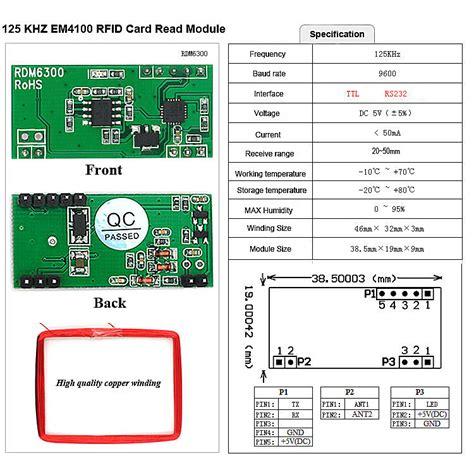 Rfid Reader Rdm6300 125khz Em4100 Limited 125khz em4100 rfid card key id reader module rdm6300 rdm630 compatible arduino ebay