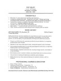 Executive Driver Sle Resume by Resume Sles Executive Driver Resume