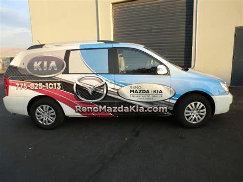 Reno Mazda Kia Service Vans Grafics Unlimited
