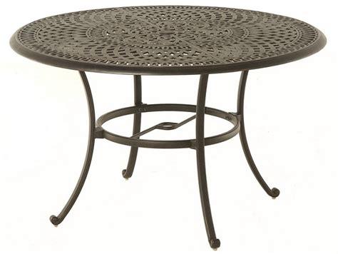 Aluminum Patio Tables By Hanamint Luxury Cast Aluminum Patio Furniture 48 Quot Dining Table