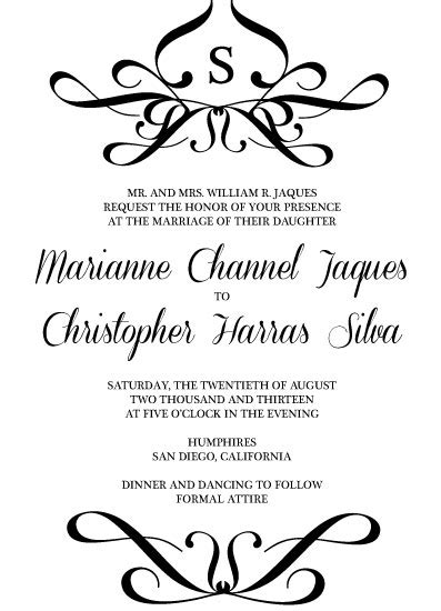 Wedding Invitation Edicate
