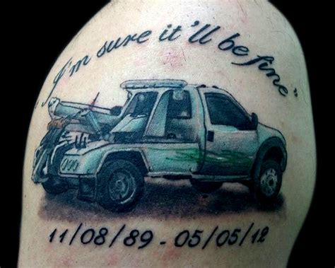 tow truck tattoo designs memorial tow truck by joecollegetattoo on deviantart