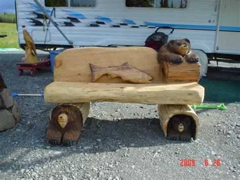 chainsaw bench carving benches chainsaw carving chain saw sculpture