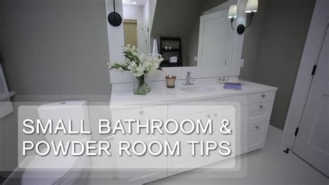 small bathroom design tips youtube