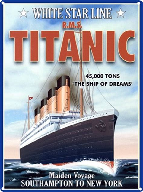 Full Wall Murals the ship of dreams rms titanic tin sign buy online