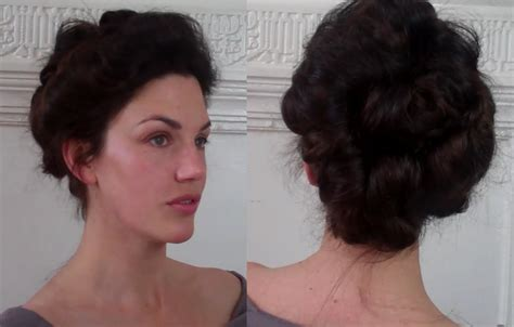 hair up 1900 pompadour puffs an edwardian updo tutorial meduim long