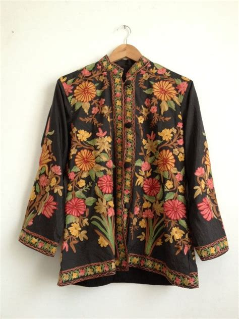 Floral Embroidery Coat embroidered floral jacket winter jacket floral