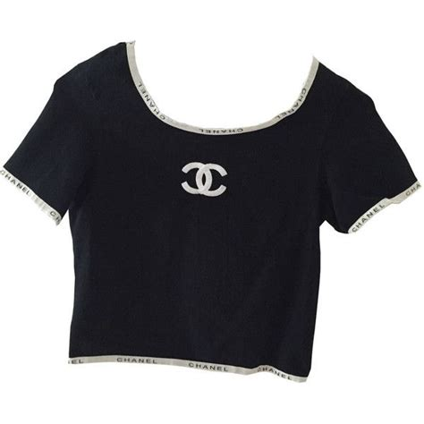 Channel Tops chanel vintage crop top edited by maryisnotmyname jpg