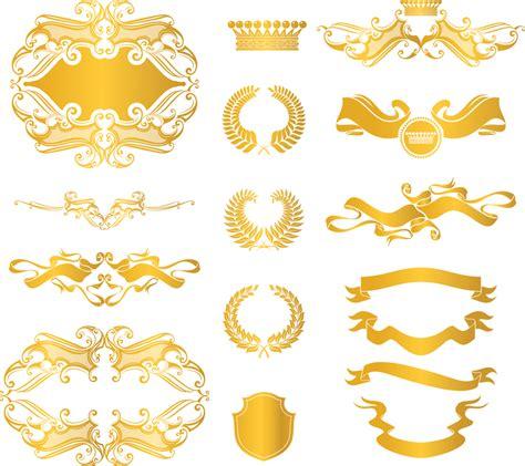 european gold decorative elements vector free vector - Gold Decorative Elements Vector
